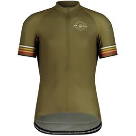 Maloja KratzdistelM. 1/2 Short Sleeve Bike Jersey Men, olijf